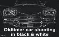 Oldtimer car shooting in black & white by Grafik-Atelier aRi F.